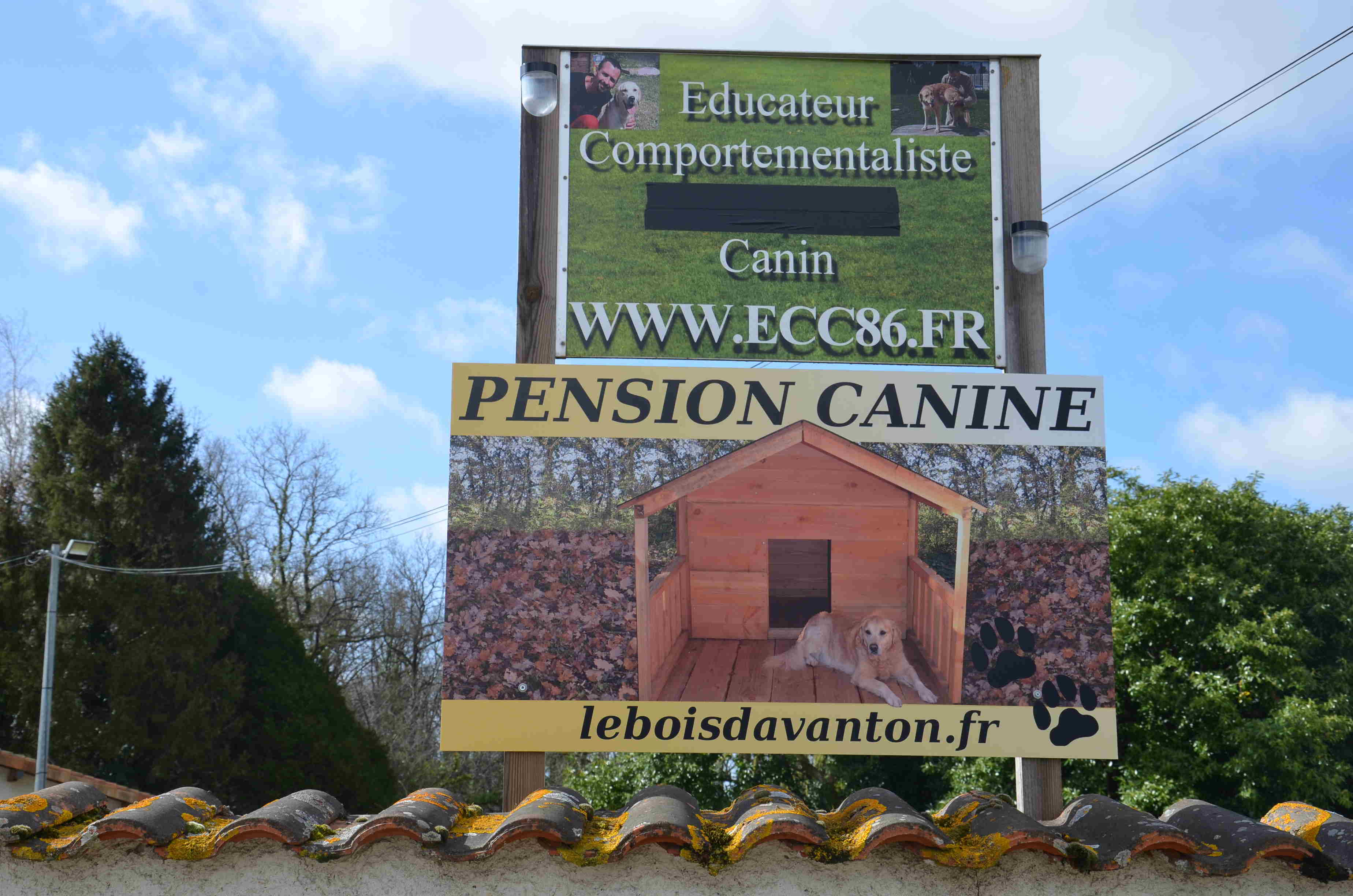 pancarte pension canine poitiers